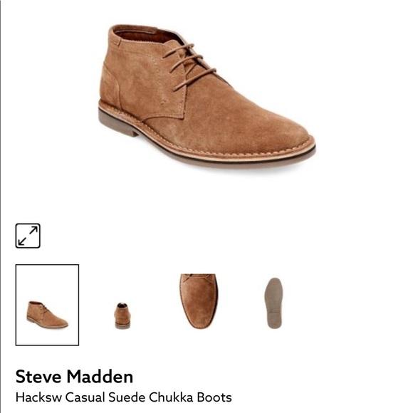 194a5d81da0 Steve Madden tan suade men's shoes size 9 NWT